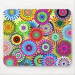 Colorful kaleidoscope pattern mouse pad