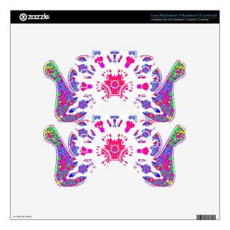 Colorful Kaleidoscope Pattern: PS3 Controller Skin