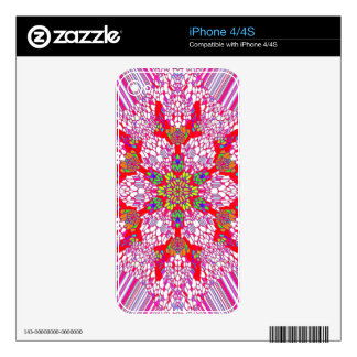 Colorful Kaleidoscope Pattern: Skin For iPhone 4