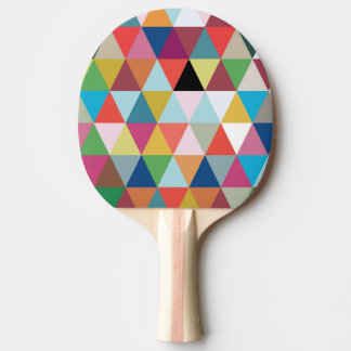 Colorful Kaleidoscope Patterned Ping Pong Paddle