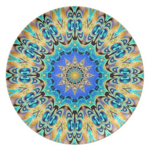 Colorful kaleidoscope plate