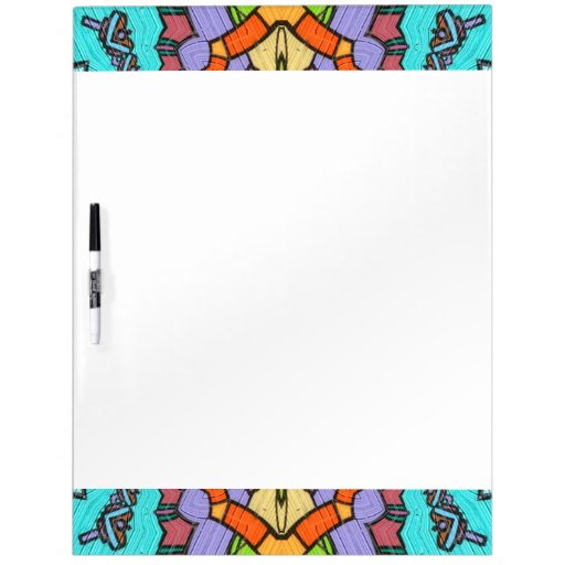 colorful kaleidoscopic pattern dry erase board