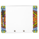 colorful kaleidoscopic pattern dry erase boards