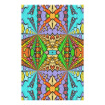 colorful kaleidoscopic pattern stationery