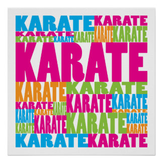 Colorful Karate Poster