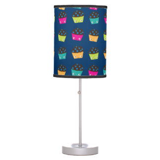 Colorful Kawaii Blueberry Muffins Table Lamp