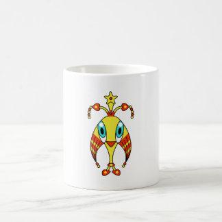 Colorful kawaii cute cartoon character mugs