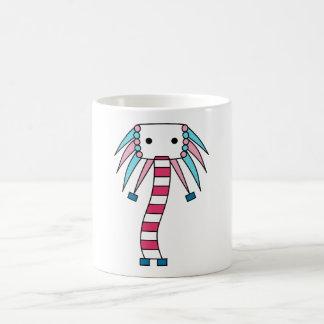 Colorful kawaii cute character mugs
