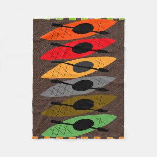 Colorful Kayaker Fleece Blanket