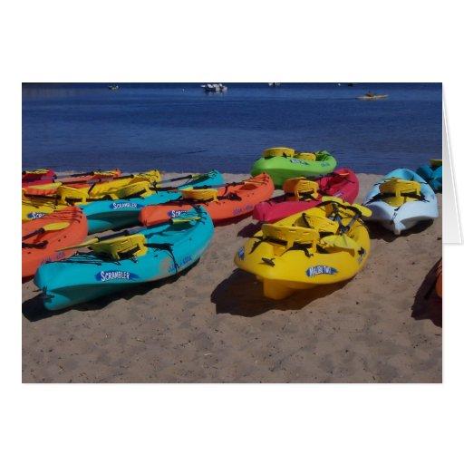 Colorful Kayaks Cards