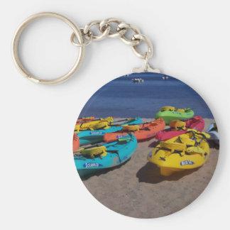 Colorful Kayaks Keychain