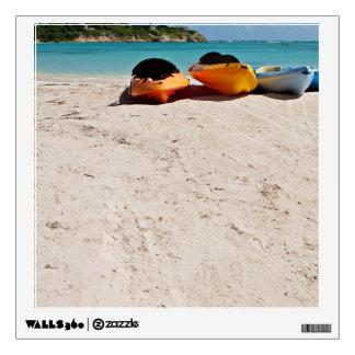 Colorful Kayaks On A Beach Wall Skin