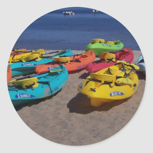 Colorful Kayaks Stickers