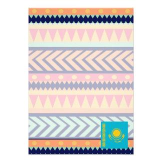 "Colorful Kazakhstan Flag Box 5"" X 7"" Invitation Card"