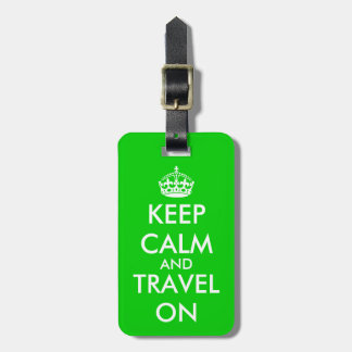 Colorful keep calm luggage tags | Customize it!