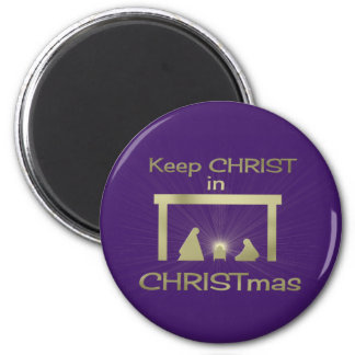 Colorful Keep Christ In Christmas Magnets