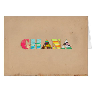 Colorful Kente Cloth from Ghana Africa Notecard