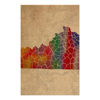 Colorful Kentucky Counties Art Stationery