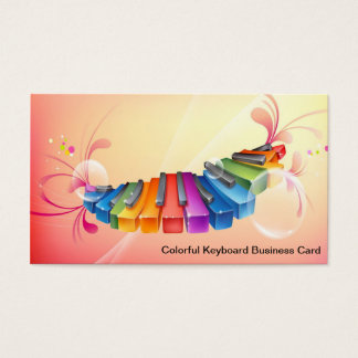 Colorful Keyboard Business Card