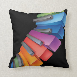 Colorful Keyboard Cool Music Throw Pillow