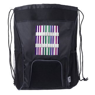 Colorful Keyboard Piano Music Backpack