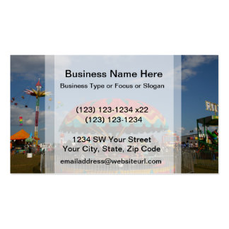 Colorful kid ride at fair Double-Sided standard business cards (Pack of 100)