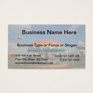 Colorful kid ride at fair business card