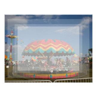 Colorful kid ride at fair letterhead