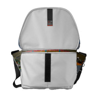 Colorful kid ride at fair courier bag