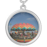 Colorful kid ride at fair personalized necklace