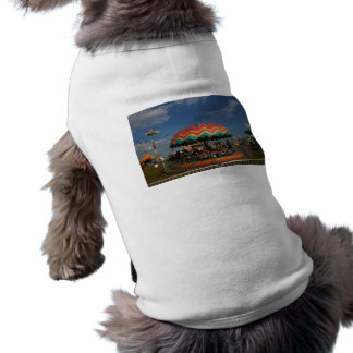 Colorful kid ride at fair pet t-shirt