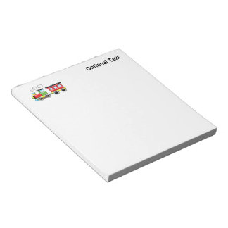 Colorful Kid;s Locomotive & Caboose Note Pad