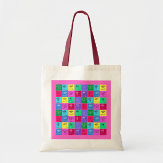 Colorful Kids Drawings Budget Tote Bags