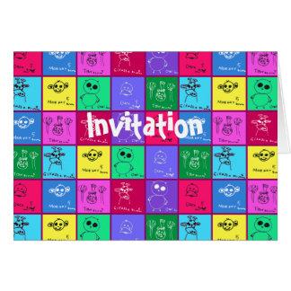 Colorful Kids Drawings Card
