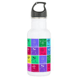 Colorful Kids Drawings Stainless Steel Water Bottle