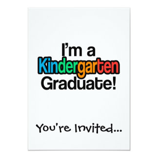 Colorful Kids Graduation Kindergarten Graduate Card