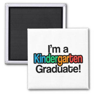 Colorful Kids Graduation Kindergarten Graduate Magnet
