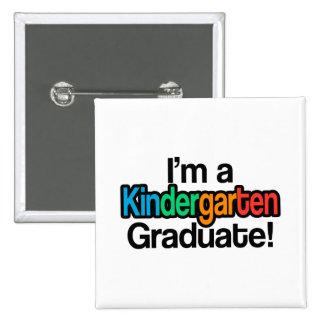 Colorful Kids Graduation Kindergarten Graduate Pinback Button