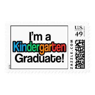 Colorful Kids Graduation Kindergarten Graduate Postage Stamp