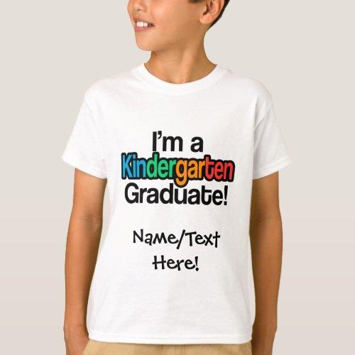 Colorful Kids Graduation Kindergarten Graduate T_Shirt