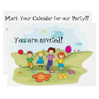 Colorful Kids Party Invitation