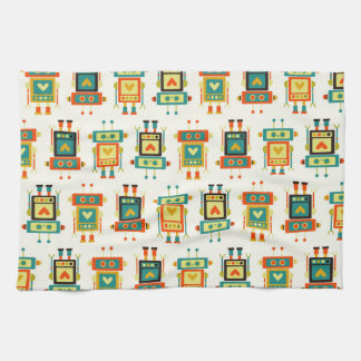 Colorful Kids Robot Towel