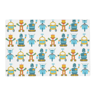 Colorful Kids Robot Placemat