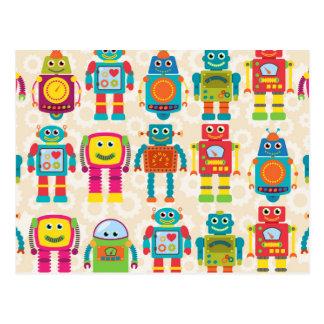 Colorful Kids Robot Postcard