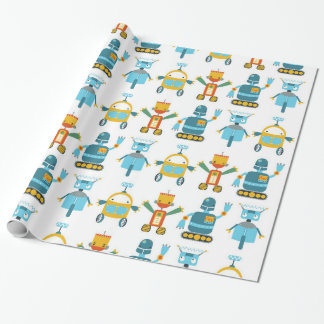 Colorful Kids Robot Wrapping Paper