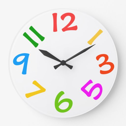 Comwall Clock For Kids Room : Colorful Kids Room Wall Clock  Zazzle