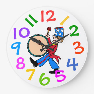Colorful Kids Room Wall Clock Large Numbers