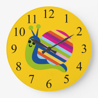 Colorful Kids Snail Clock