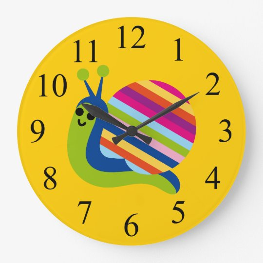 Colorful Kids Snail Clock