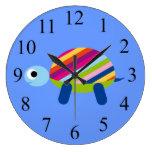Colorful Kids Turtle Clock